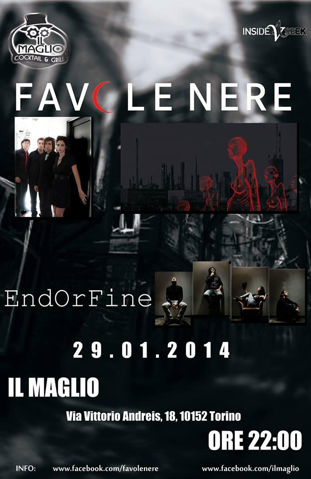 """Favole Nere & EndOrFine in Concerto a """"Il Maglio Cocktailbar Torino"""""""