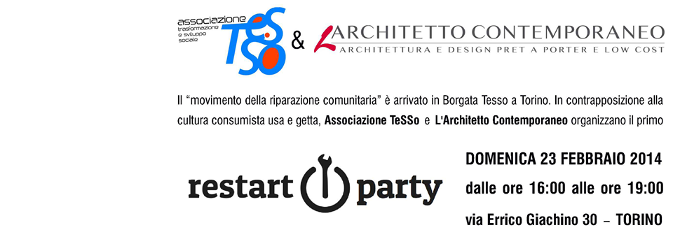 Restart Party arriva a Torino