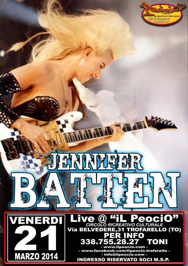 Jennifer Batten Live in Trofarello