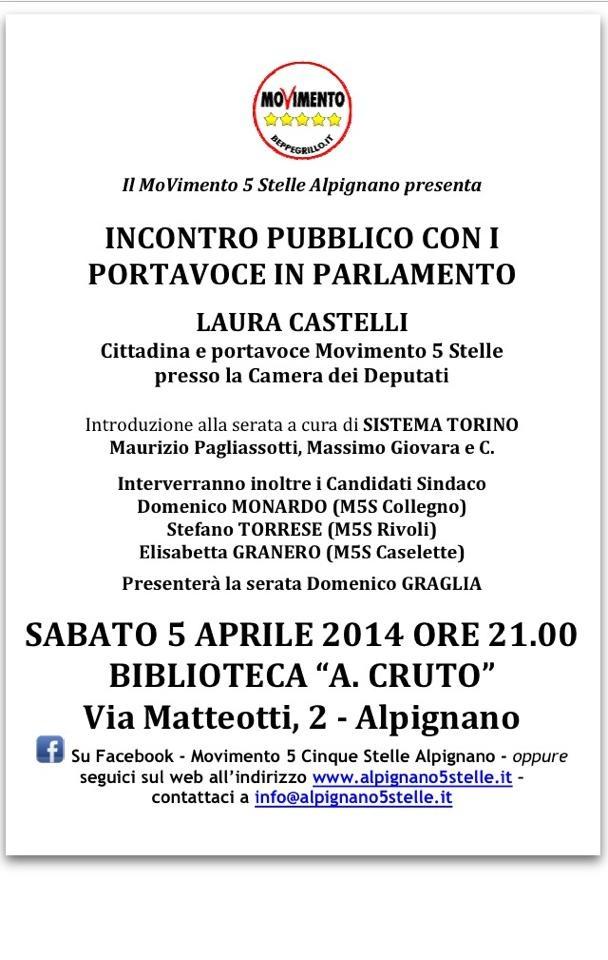 Portavoce in Parlamento: Alpignano