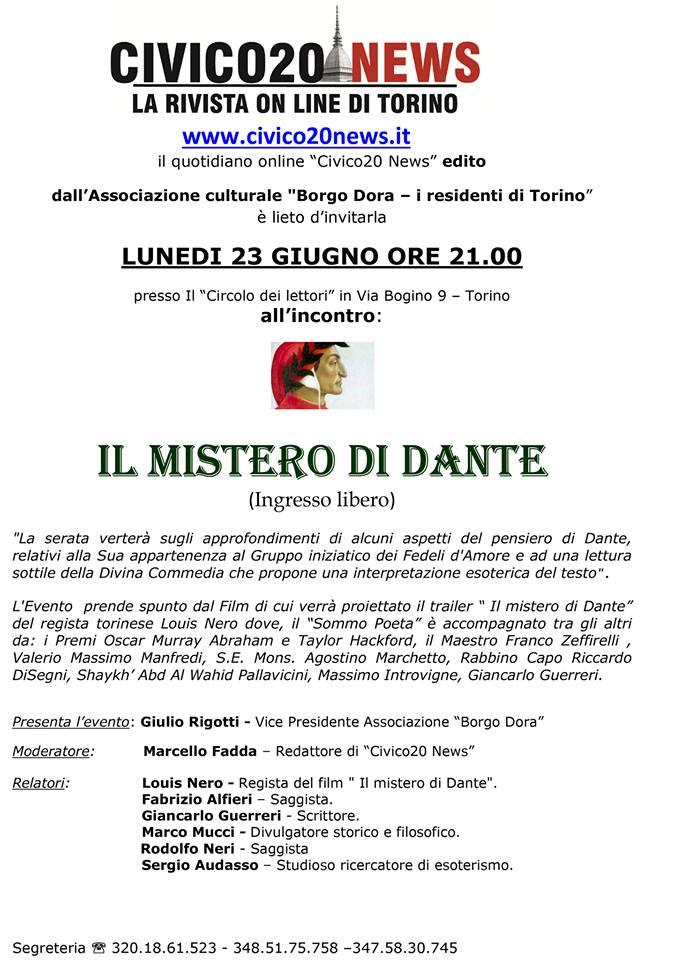 Conferenza su Dante Esoterico