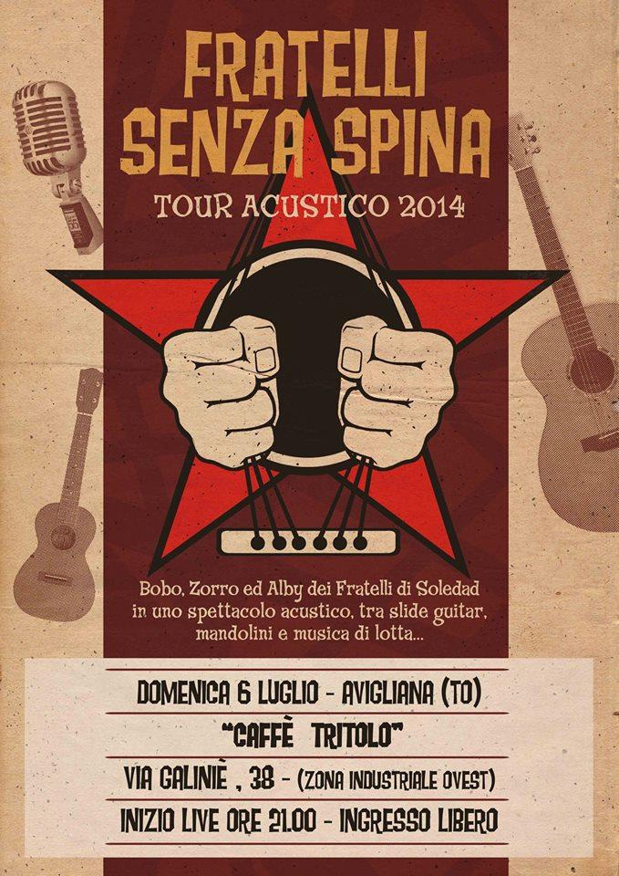 FRATELLI SENZA SPINA @ CAFFE' TRITOLO - AVIGLIANA (TO)
