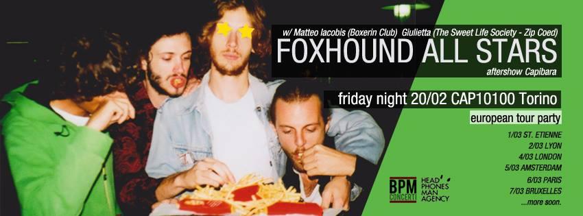 Foxhound in concerto a Torino
