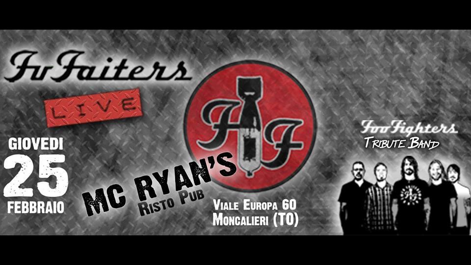 FU FAITERS (Foo Fighters Tribute Band) live al risto pub MC RYAN'S di Moncalieri (TO)