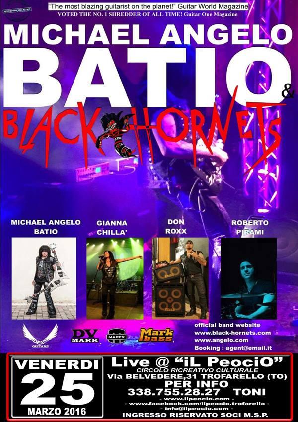 Michael Angelo BATIO & Black Hornets