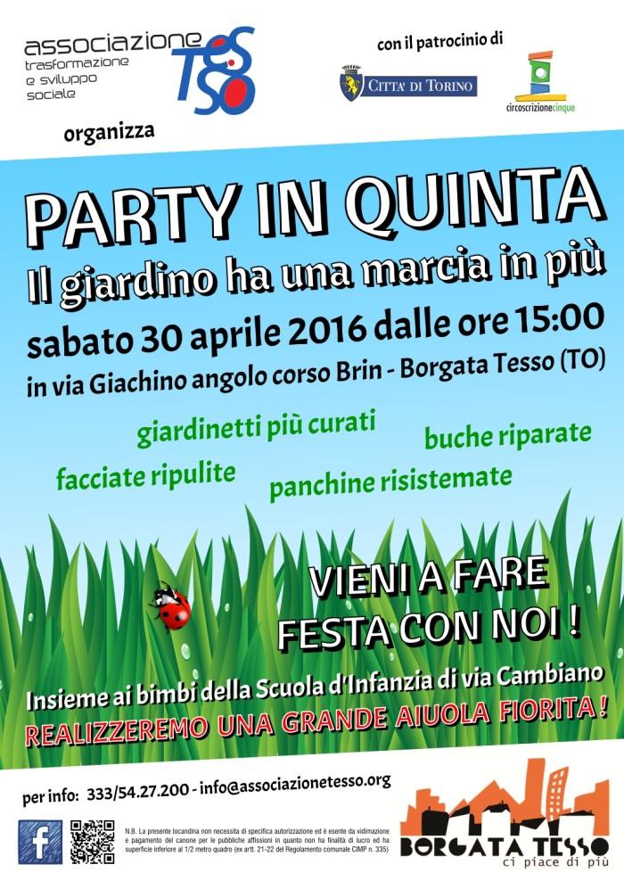 locandina party in quinta