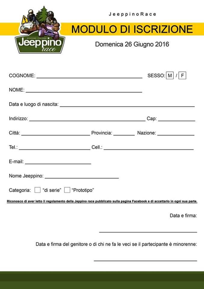 Iscrizione Jeppino Race a Pinerolo (TO)
