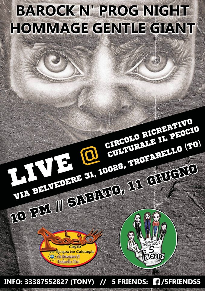 5 Friends (Tribute Gentle Giant) Live@IlPeocio