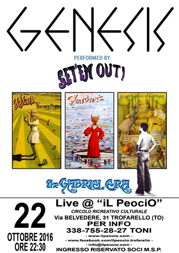 Get'em Out - performed Genesis - at Il Peocio
