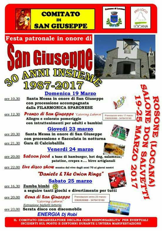 LOCANA San Giuseppe 2017