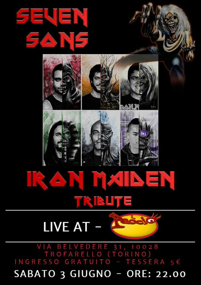 Seven Sons (Tributo Iron Maiden) in concerto a IL PEOCIO