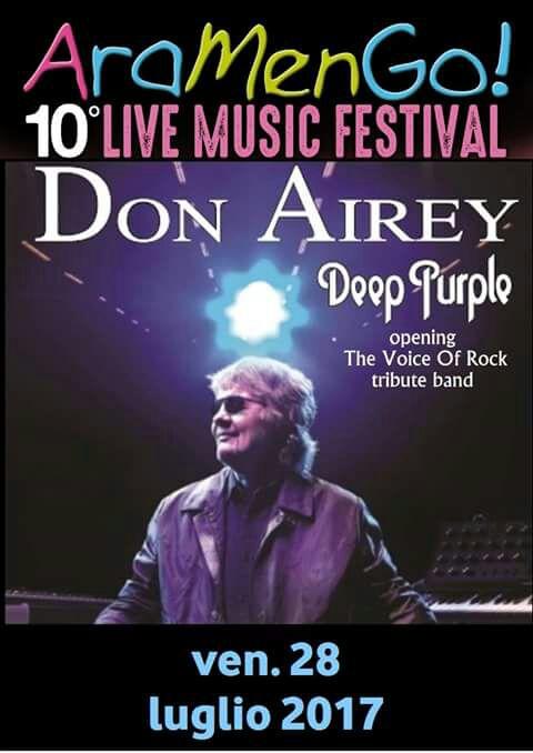 Don Airey (Deep Purple) in concerto a ARAMENGO