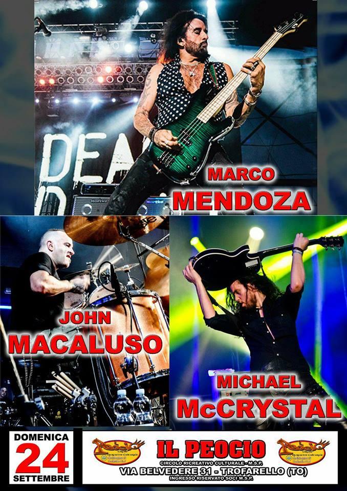 John Macaluso Drummer, Marco Mendoza e Michael mc crystal